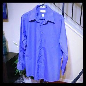 Van Heusen Purple Long Sleeve Dress Shirt